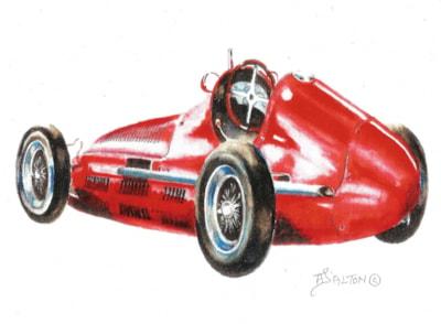 A red Maserati
