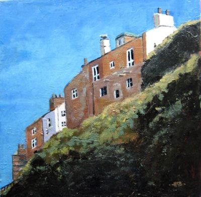 Houses above Staithes Beck