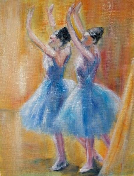 Impression of Degas - Two Blue Dancers