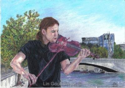 Violinist In Paris