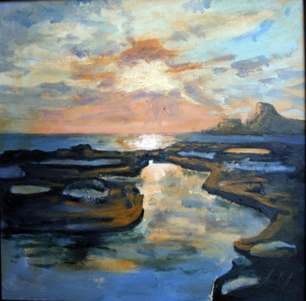 Sunrise Over The Salt Pans