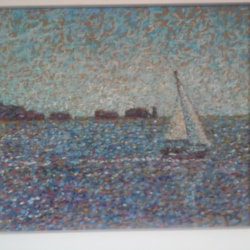 sailing boat isle of wight near needles .. SOLD