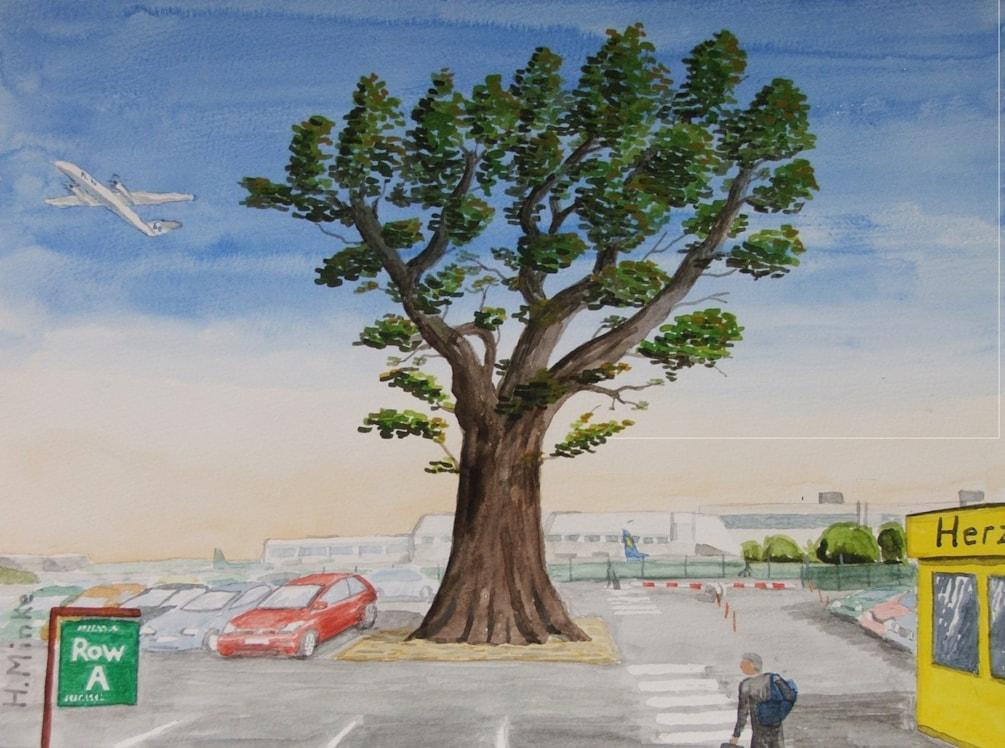 The old Oak Tree at Birmingham Airport