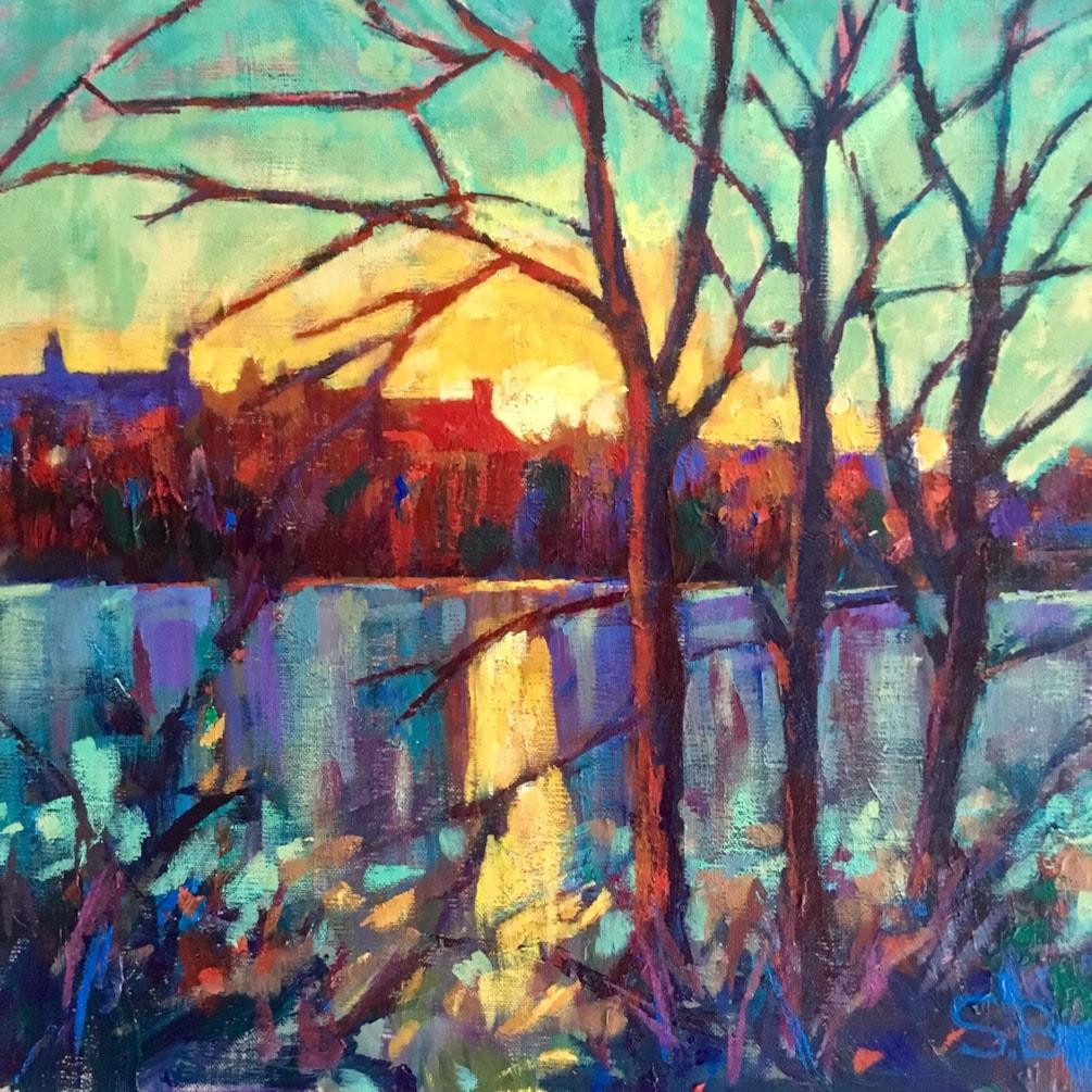 'November Sunset' - Radipole Lake Weymouth
