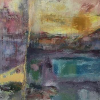 amorphous land, oil on canvas, 100x100cm, zarina keyani paintings