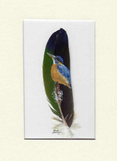 Kingfisher on Bullrush