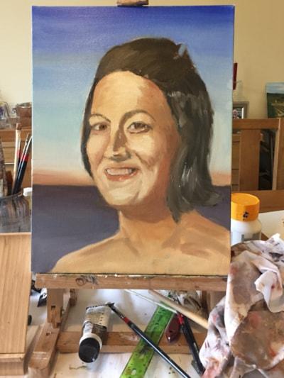 WIP portrait practice- Toni