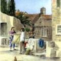 Lace seller, Dubrovnik.