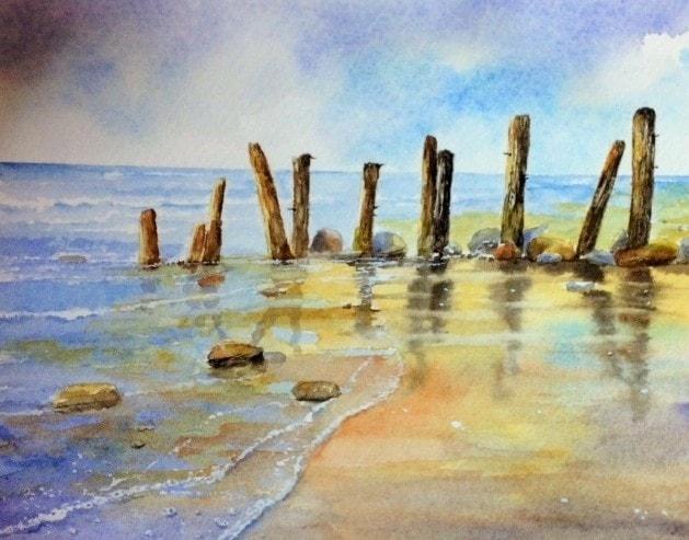 Groynes at Sandsend Beach
