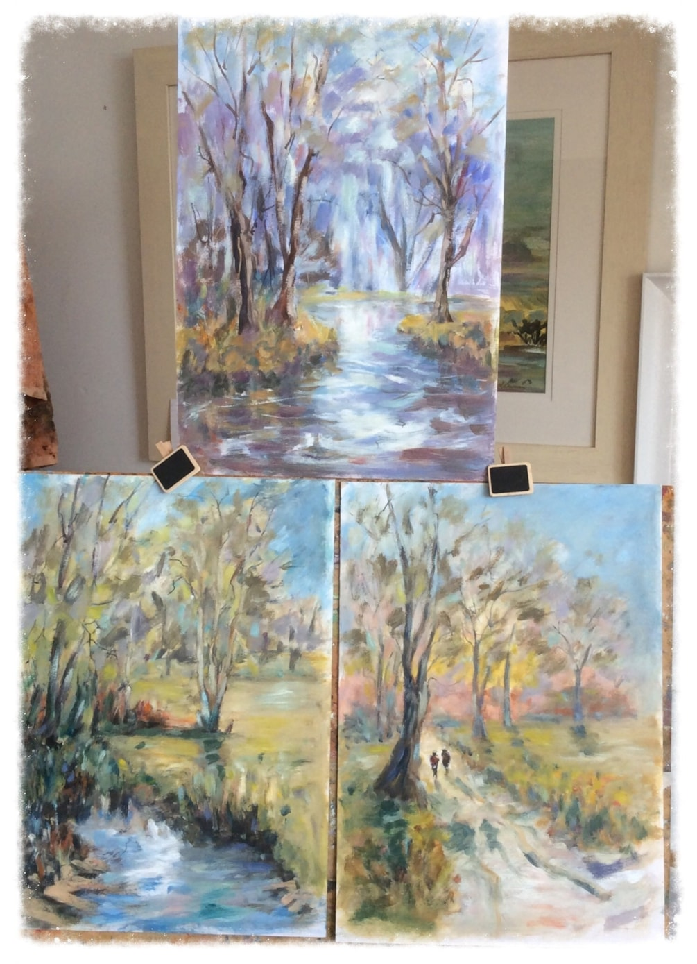 Re-working of paintings previously posted!