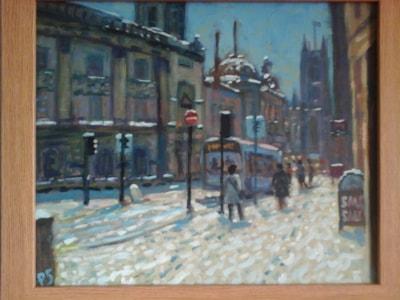 Bath City in the snow