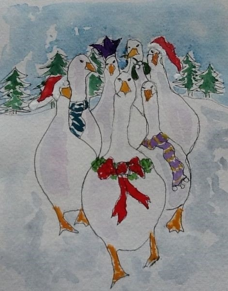 A Festive Gaggle of Geese