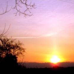 """SUN-SET"" LANDSCAPE."