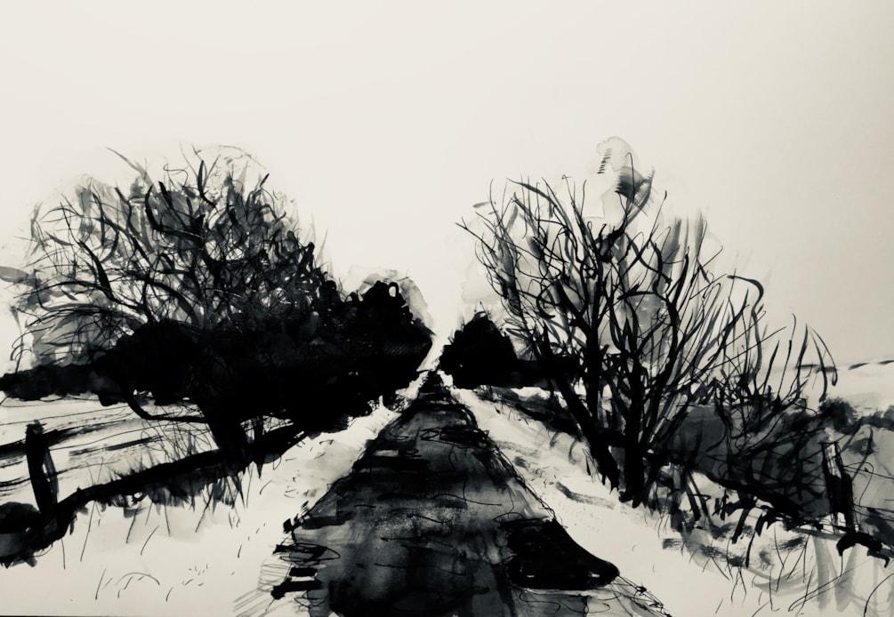 Quiet lane near Quarnford