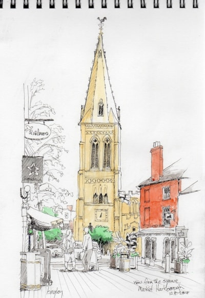 View from the Square, Market Harborough