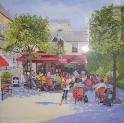 Cafe scene in Bath