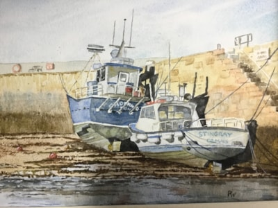 Cemaes Bay fishing boats