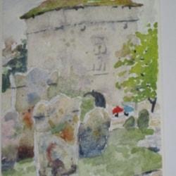 Small art for you Portchester Landgate rain