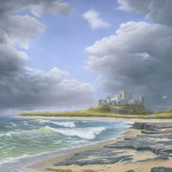 STORM CLOUDS OVER BAMBURGH