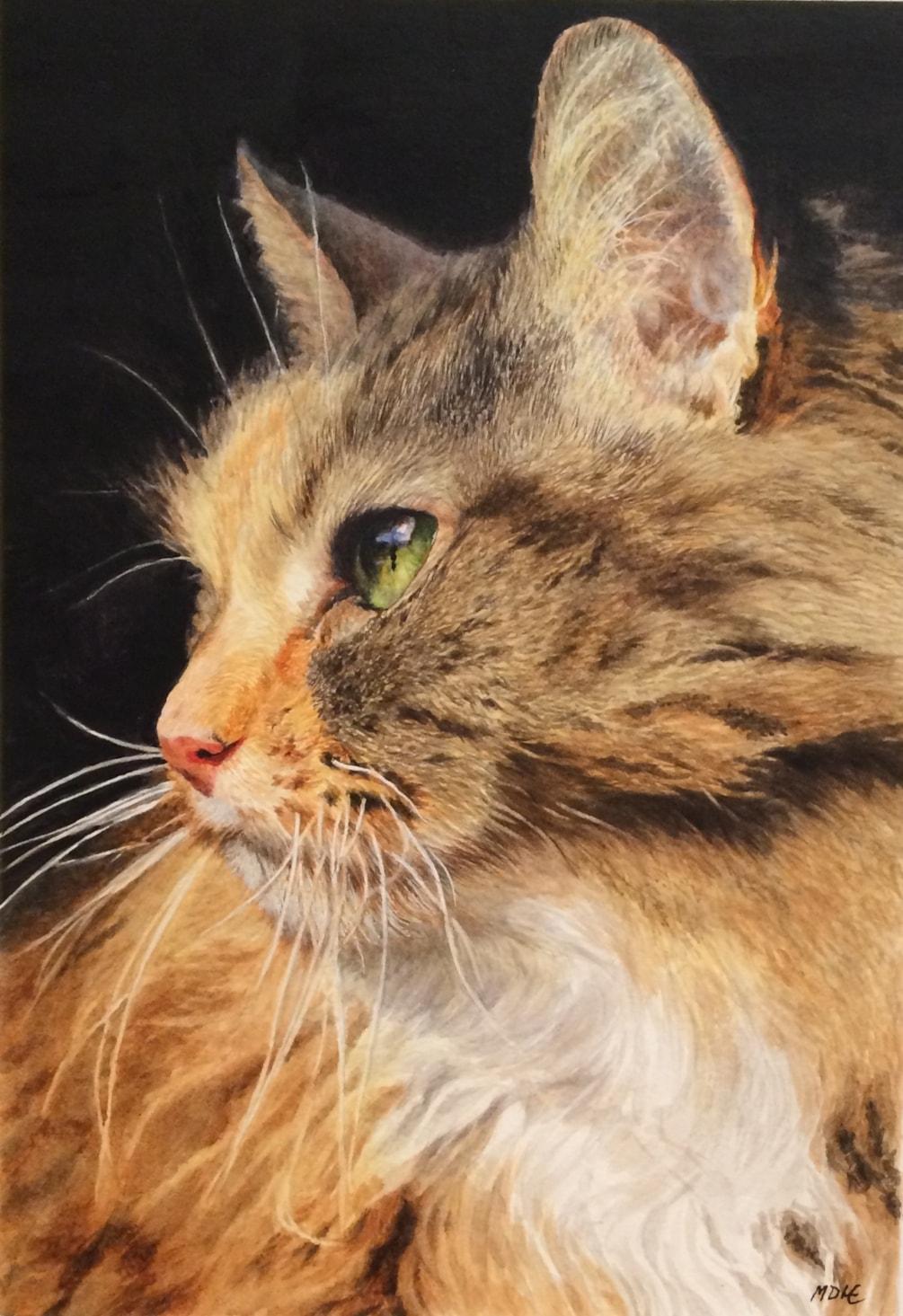 A Portrait of Peggy (Watercolour)