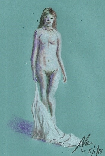 Nude with towel
