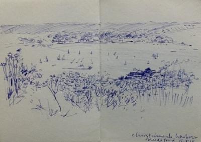 Hengistbury Head, looking north