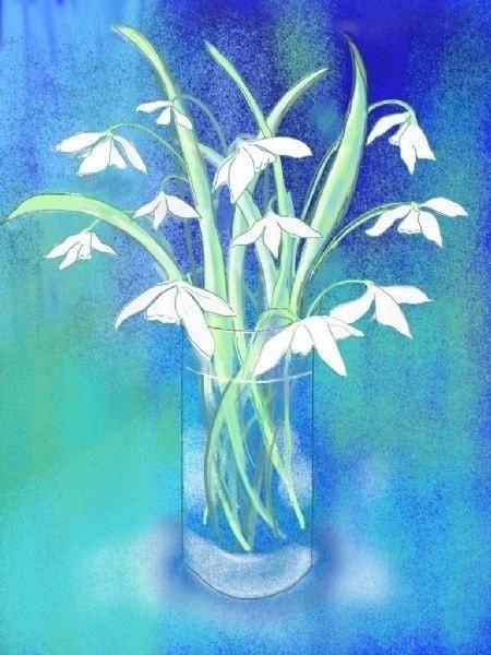 Snowdrops - iPad art for Henry Martin