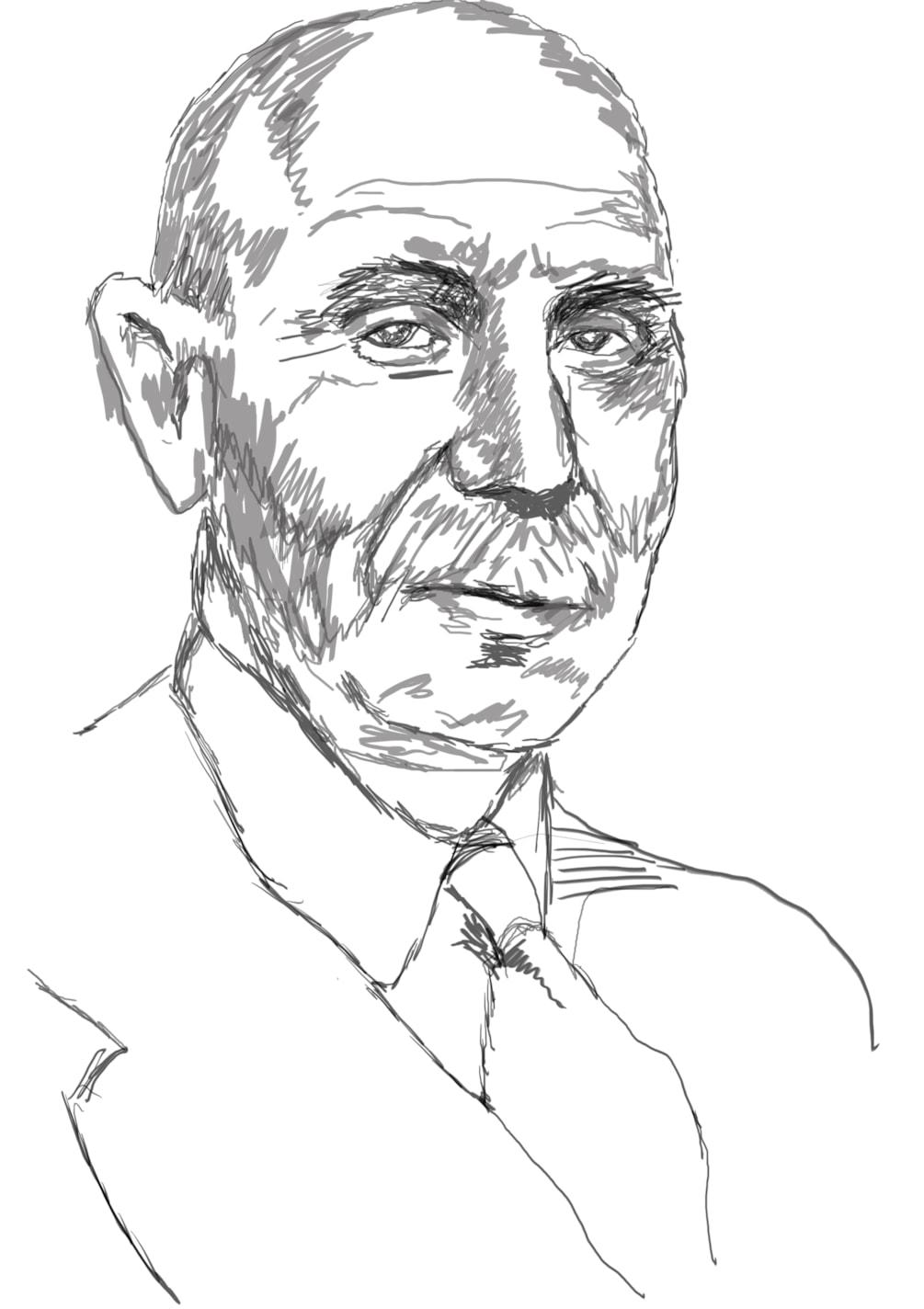 Digital pencil portrait