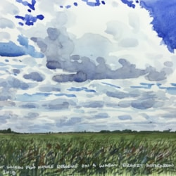 Cloudy over Wicken Fen