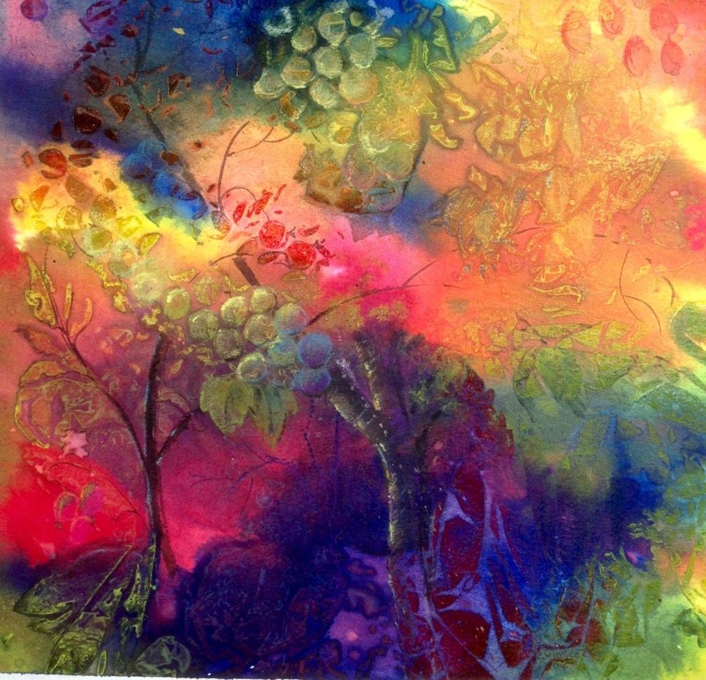 Abstract vineyard