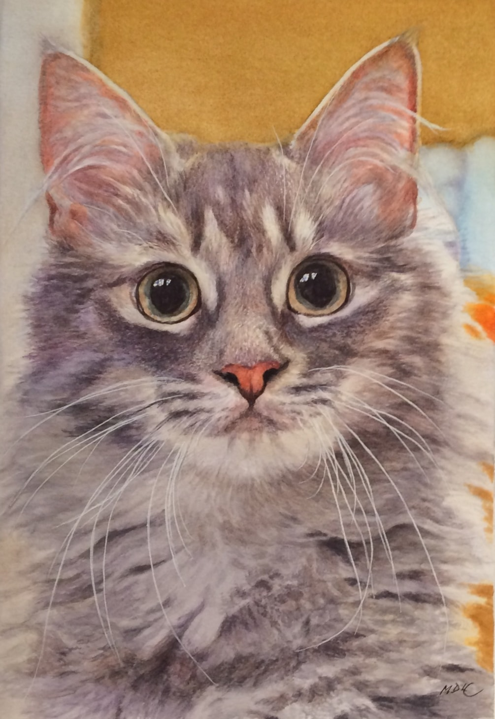 Did I just hear you rattle my bowl?!!! (Watercolour)