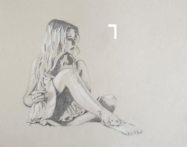 A4 toned paper Nataliya figure
