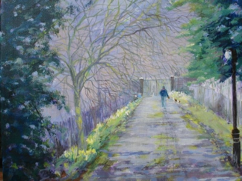 Path from St Mary's Church, Sledmere, Yorkshire