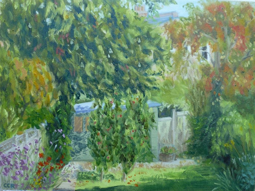 Back garden in Autumn