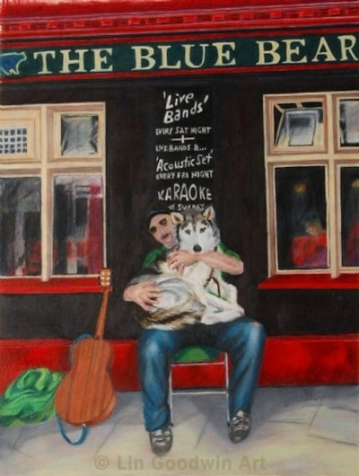 The Busker and His Dog