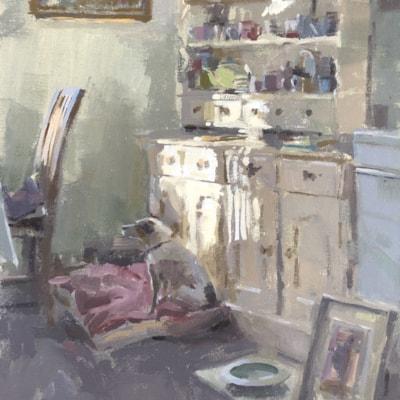 Kitchen dresser, late morning