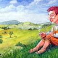 Bilbo Baggins in the Shire.