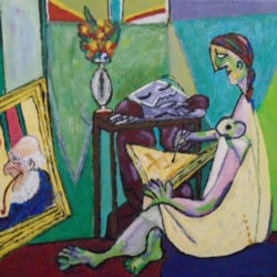 After Picasso -    homage to him and my dad