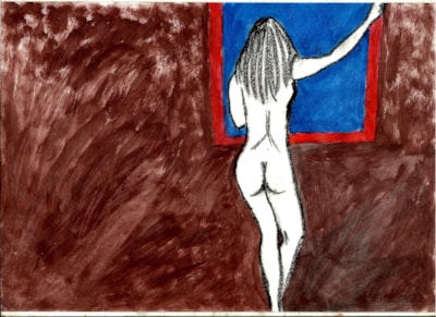 Nude with abstract