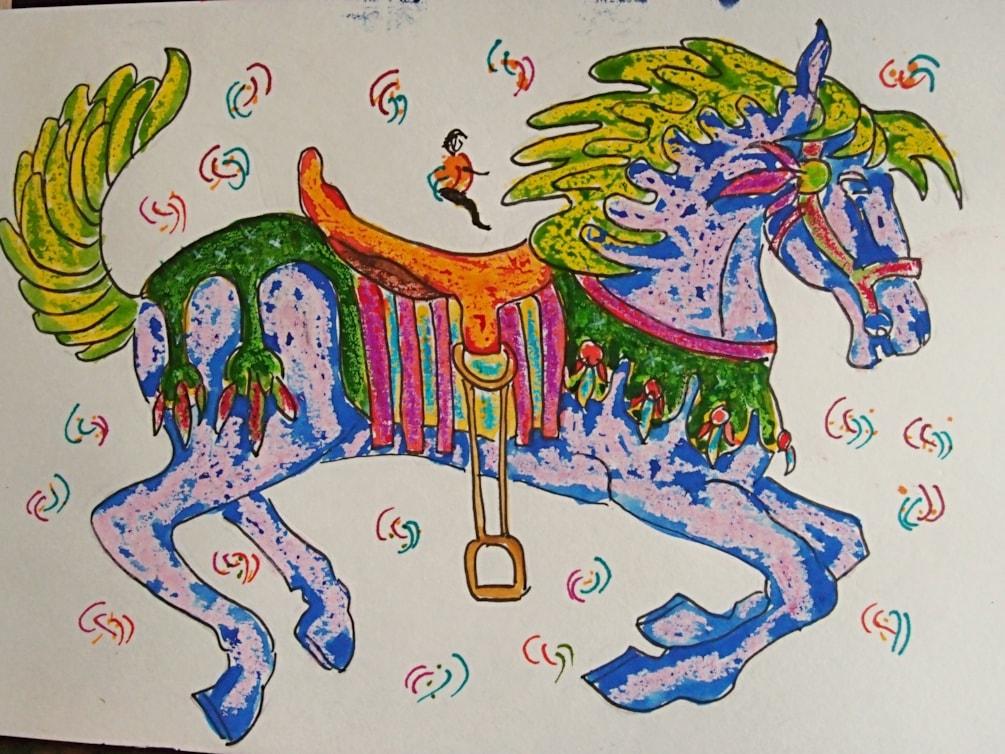 Horses 4 Courses Doodles Series. Number: Seven.