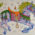 Horses 4 Courses Doodles Series. Number: Seven.