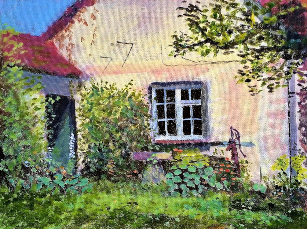 Garden and building