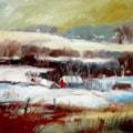 Oak Tree Farm & Barns, Sandon, Winter Landscape.