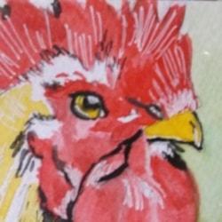 Chicken 3 Minature 2 1/2 x 3 1/2