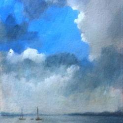 Storm clouds over Lake Garda