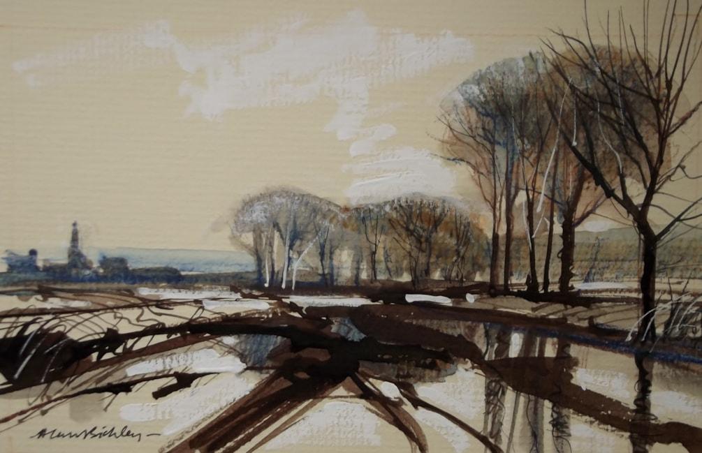 Towards Weston Village, Autumn