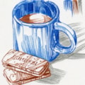 bourbon biscuit and coffee