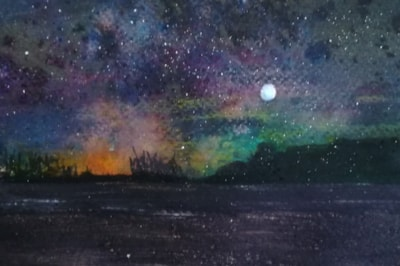 Night sky, day 8 star
