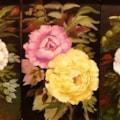 Roses on ceramic panels