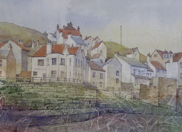 Staithes from Harbour sands